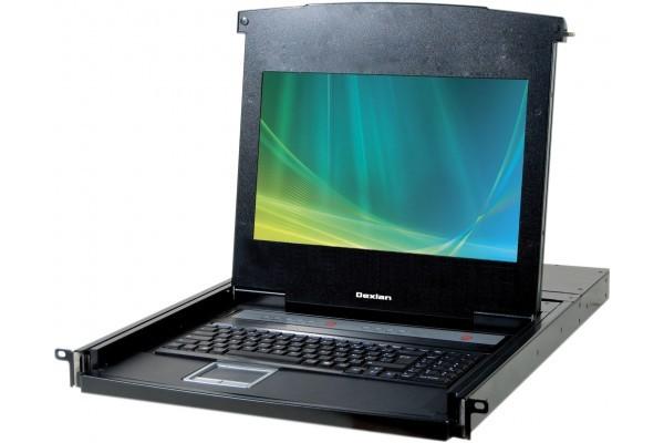 DEXLAN CONSOLE LCD 18,5 1080P FULL HD 4P KVM VGA/USB +Câble