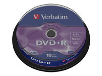 Verbatim DataLifePlus - DVD+R x 10 - 4.7 Go - support de stockage