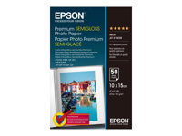 Epson Premium Semigloss Photo Paper - papier photo - 50 feuille(s) - 100 x 150 mm - 251 g/m²