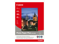 Canon Photo Paper Plus SG-201 - papier photo - 20 feuille(s) - A3 - 260 g/m²