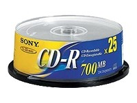 Sony - CD-R x 25 - 700 Mo - support de stockage