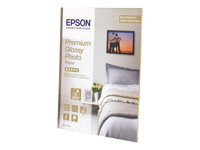 Epson Premium Glossy Photo Paper - papier photo - 40 feuille(s) - 100 x 150 mm