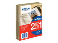Epson Premium Glossy Photo Paper BOGOF - papier photo - 40 feuille(s) - 100 x 150 mm - 255 g/m² (pack de 2)