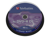 Verbatim - DVD+R DL x 10 - 8.5 Go - support de stockage