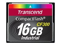 Transcend CF300 Industrial - carte mémoire flash - 16 Go - CompactFlash
