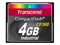 Transcend CF300 Industrial - carte mémoire flash - 4 Go - CompactFlash