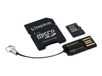 Kingston Multi-Kit / Mobility Kit - carte mémoire flash - 16 Go - microSDHC