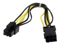 StarTech.com 8in 6 pin PCI Express Power Extension Cable - rallonge de câble d'alimentation - 20 cm