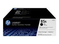 HP 85A - pack de 2 - noir - originale - LaserJet - cartouche de toner (CE285AD)