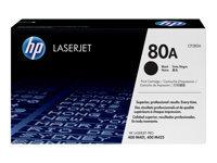 HP 80A - noir - original - LaserJet - cartouche de toner ( CF280A )