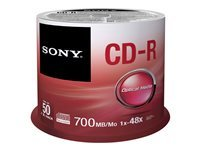 Sony CDQ-80SP - CD-R x 50 - 700 Mo - support de stockage