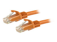 StarTech.com Gigabit Snagless RJ45 UTP Cat6 Patch Cable Cord - cordon de raccordement - 15 m - orange