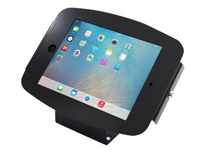 Compulocks Space 45° iPad Mini Wall Mount / Counter Top Kiosk Black - montage mural