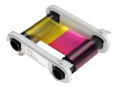 Evolis High Trust YMCKOK Color Ribbon - 1 - couleur (cyan, magenta, jaune, noir résine, revêtement transparent) - ruban d\'impression