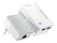 TP-Link TL-WPA4220KIT AV500 2-Port Wifi Powerline Adapter Starter Kit - pont - 802.11b/g/n - Branchement mural