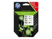 HP 950XL/951XL Combo Pack - pack de 4 - noir, couleur (cyan, magenta, jaune) - original - cartouche d'encre