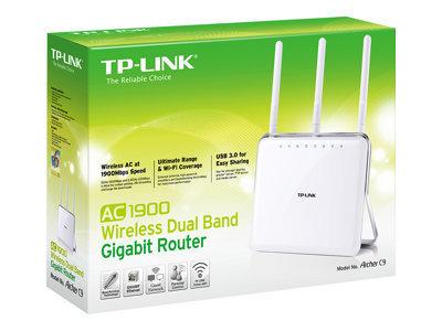 TP-LINK ARCHER C9 AC1900 - routeur sans fil - 802.11a/b/g/n/ac - Ordinateur de bureau