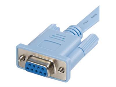 StarTech.com Cable console RJ45 vers serie DB9 de 1,8m pour gestion de routeur Cisco - Male / Femelle - Bleu