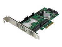 StarTech.com Carte controleur / Adaptateur RAID PCIe 2.0 vers 2 ports SATA III 6Gb/s avec 2 slots mSATA et HyperDuo SSD Tiering