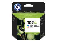 HP 302XL - couleur (cyan, magenta, jaune) - original - cartouche d'encre