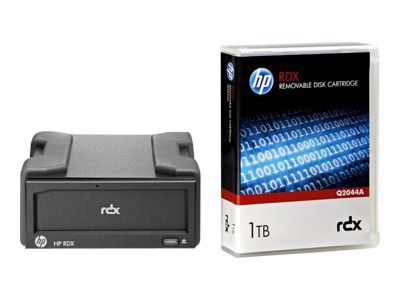 HPE RDX Removable Disk Backup System - lecteur RDX - SuperSpeed USB 3.0 - avec Cartouche 1 To