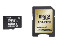 Integral UltimaPro X - carte mémoire flash - 16 Go - microSDHC UHS-I