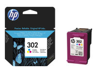 HP 302 - tricolore à base de colorant - originale - cartouche d'encre