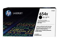 HP 654X - à rendement élevé - noir - originale - LaserJet - cartouche de toner (CF330X)