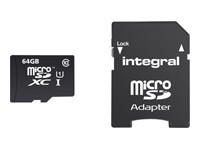 Integral Smartphone and Tablet - carte mémoire flash - 64 Go - microSDXC UHS-I