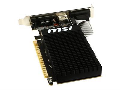 CARTE GRAPH. MSI GT710-2GD3H GF GT710 2Go VGA/DVI/HDMI LP
