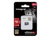 Integral UltimaPro X - carte mémoire flash - 64 Go - microSDXC UHS-I