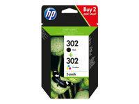 HP 302 - pack de 2 - originale - cartouche d'encre