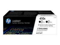 HP 410X - pack de 2 - à rendement élevé - noir - originale - LaserJet - cartouche de toner (CF410XD)