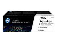 HP 201X - pack de 2 - à rendement élevé - noir - originale - LaserJet - cartouche de toner (CF400XD)