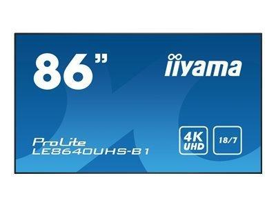 "iiyama ProLite LE8640UHS-B1 86"" Classe (85.6"" visualisable) écran DEL"