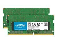 Crucial - DDR4 - 16 Go: 2 x 8 Go - SO DIMM 260 broches - memoire sans tampon
