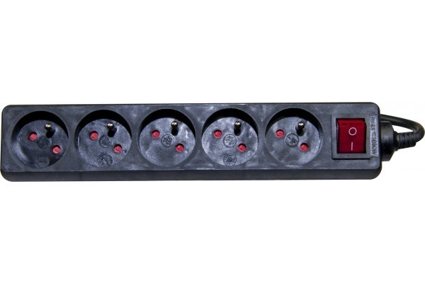Dexlan Multi-Prises Électrique - 5 Prises Inter 4 M