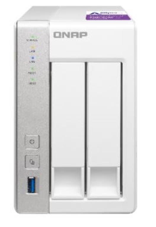 QNAP TS-231P - Serveur NAS - Tour - capacité totale 2TB (2 x 1TB Disques WD RED)