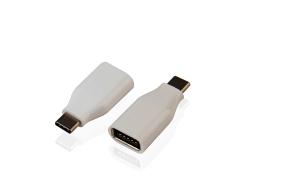 Muvit - Adaptateur USB - USB 24 broches type C (M) pour USB (F) ( USB 3.1 Gen2 ) - blanc