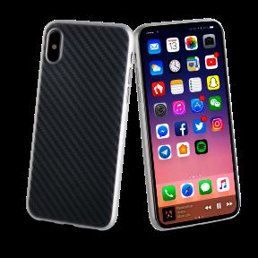 Coque Carbon, édition transparent pour Apple Iphone X