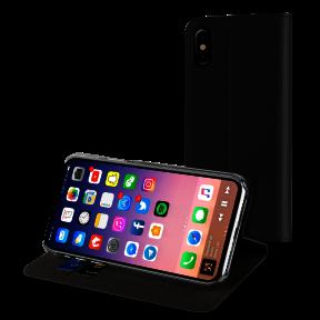 Etui folio stand, couleur noir, pour Apple iPhone X