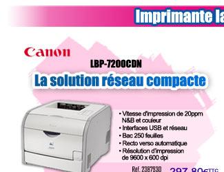 Réf. 2387930 - Imprimante laser couleur Canon LBP-7200CDN à 249¤HT