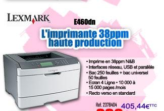 Réf. 2373462 - Imprimante Lexmark E460dn à 339¤HT