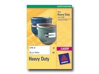Avery Heavy Duty Laser Labels - étiquettes en polyester - 20 unités