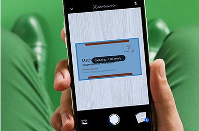 Adobe Scan sur smartphone