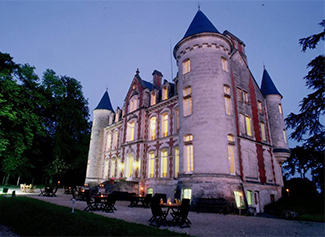 château de la Pouyade de nuit