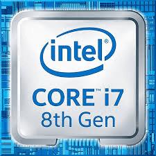 Badge intel core i7 de 8ème génération