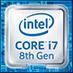 Badge Intel core i7 8ème génération