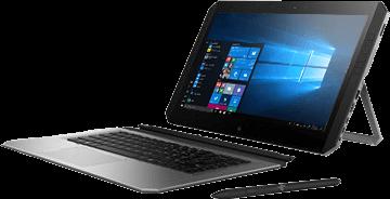HP ZBook x2 de profil avec clavier et stylet