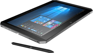 HP ZBook x2 à plat avec stylet